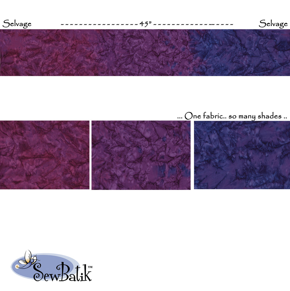 "45"" Wide Nuance Gradation - Hyacinth Violet"