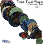 Precut Fused Circles - Fall