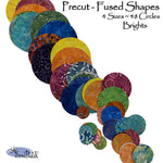 Precut Fused Circles - Brights