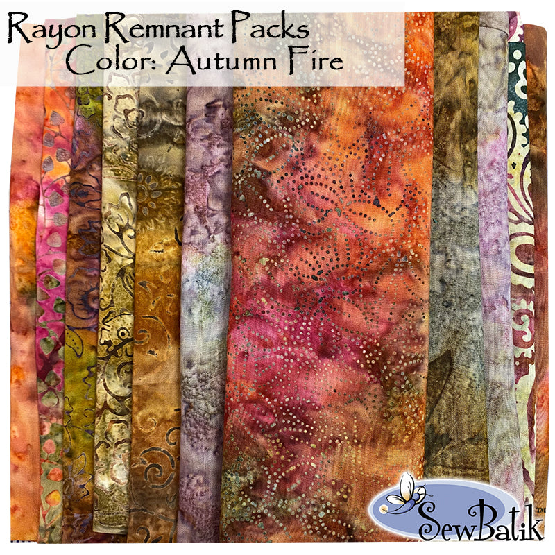 Rayon Remnant Pack - Autumn Fire