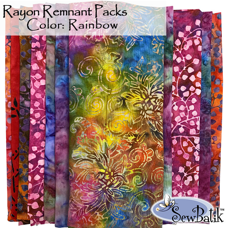 Rayon Remnant Pack - Rainbow