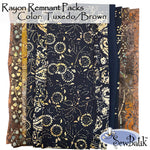Rayon Remnant Pack - Tuxedo/Brown
