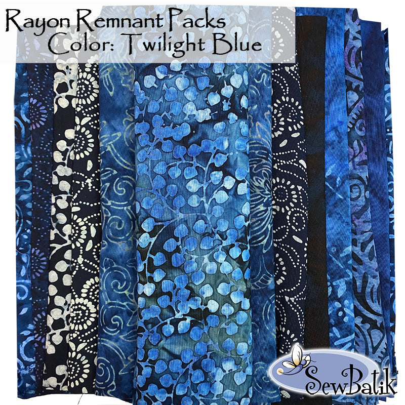 Rayon Remnant Pack - Twilight Blue