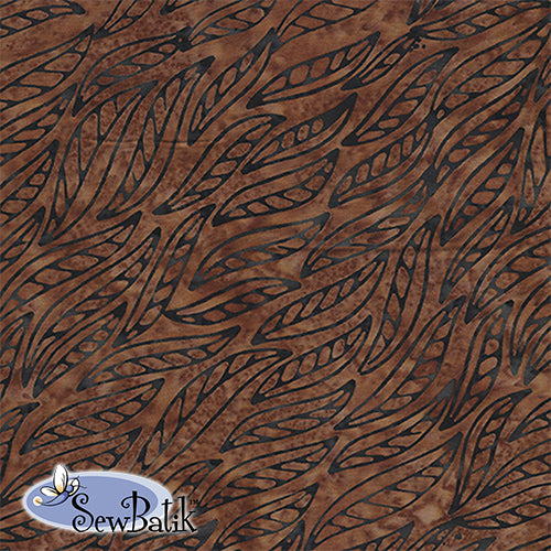 Batik Rayon - Wisp - Dark Brown