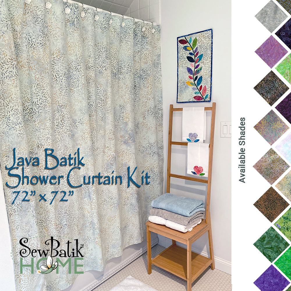 Java Batik Shower Curtain