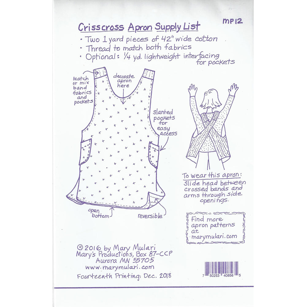 Mary Mulari Designs - Crisscross Apron Pattern