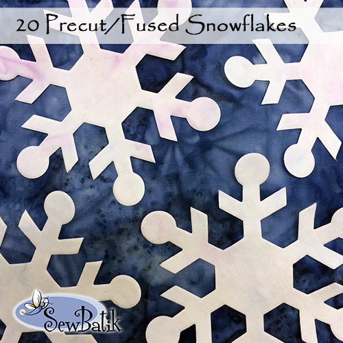 Snowflakes - Precut and Fused