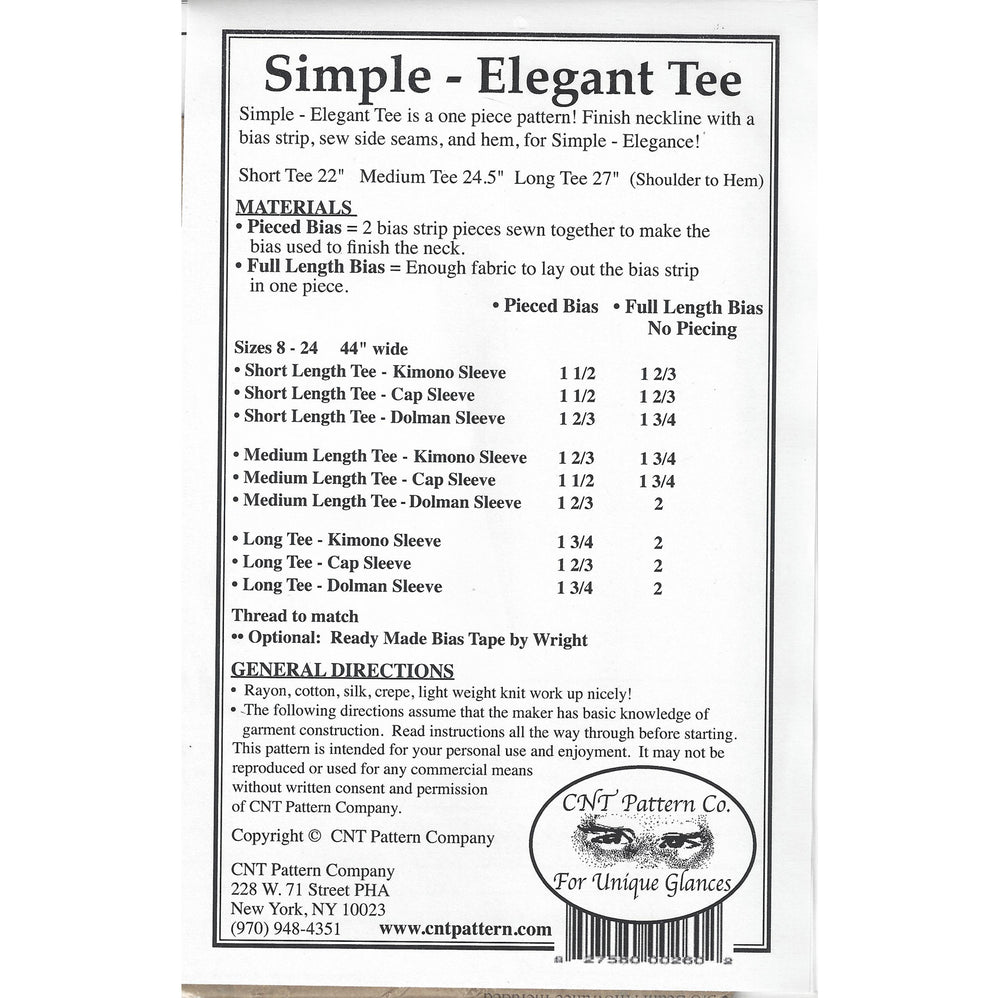 Simple Elegant Tee / Rayon Duo