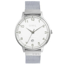 Mens silver mesh watch his