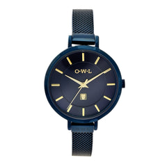 blue ladies mesh watch