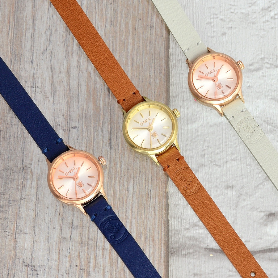 CONWY TAN LEATHER STRAP WATCH