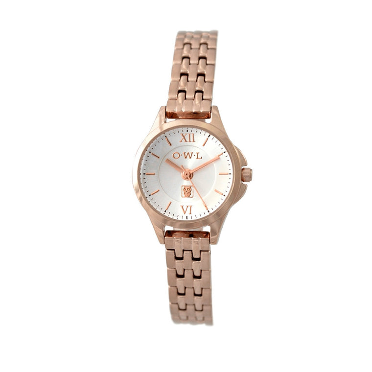 classic ladies rose gold bracelet watch
