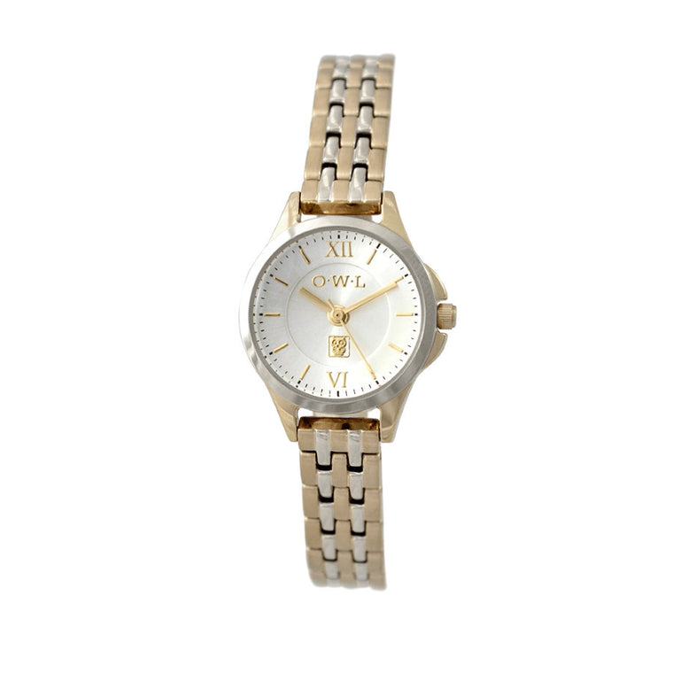 Classic ladies hold and silver bracelet watch