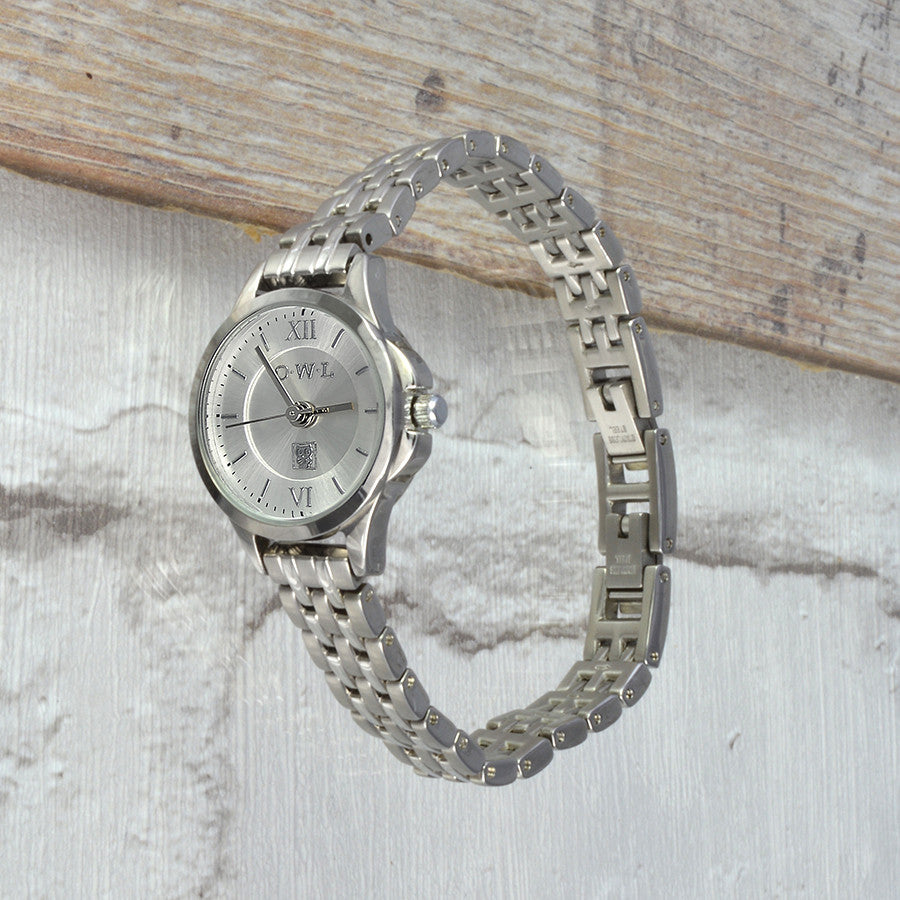 small silver vintage style bracelet ladies watch