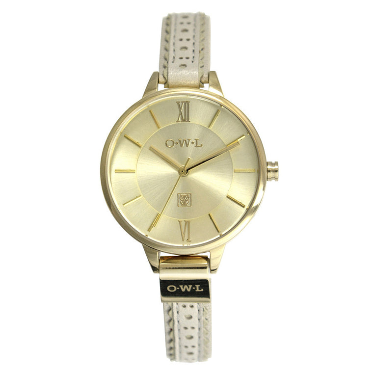 BELFAST LADIES BROGUE LEATHER WATCH