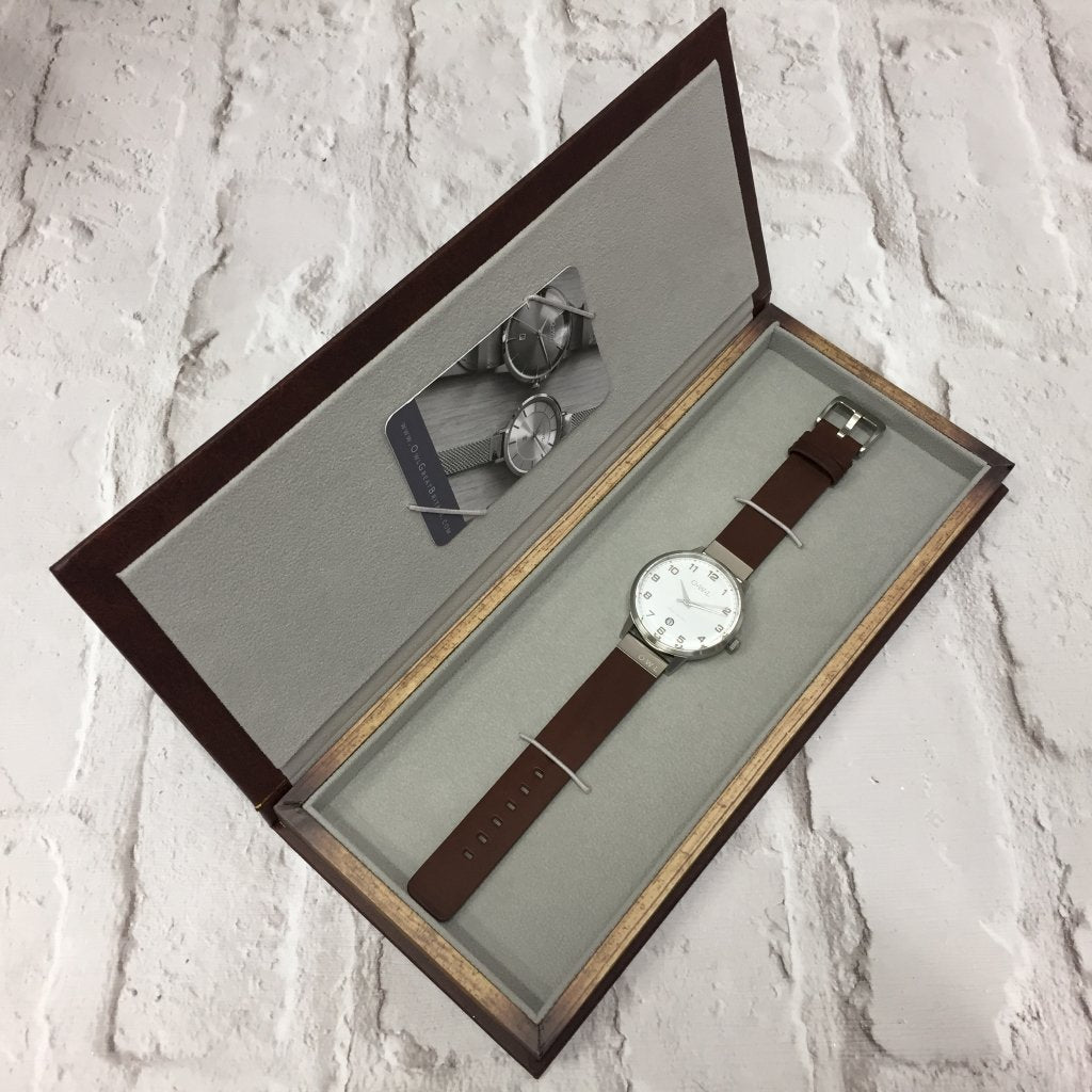 Mens Gift Watch Box in the style of a book