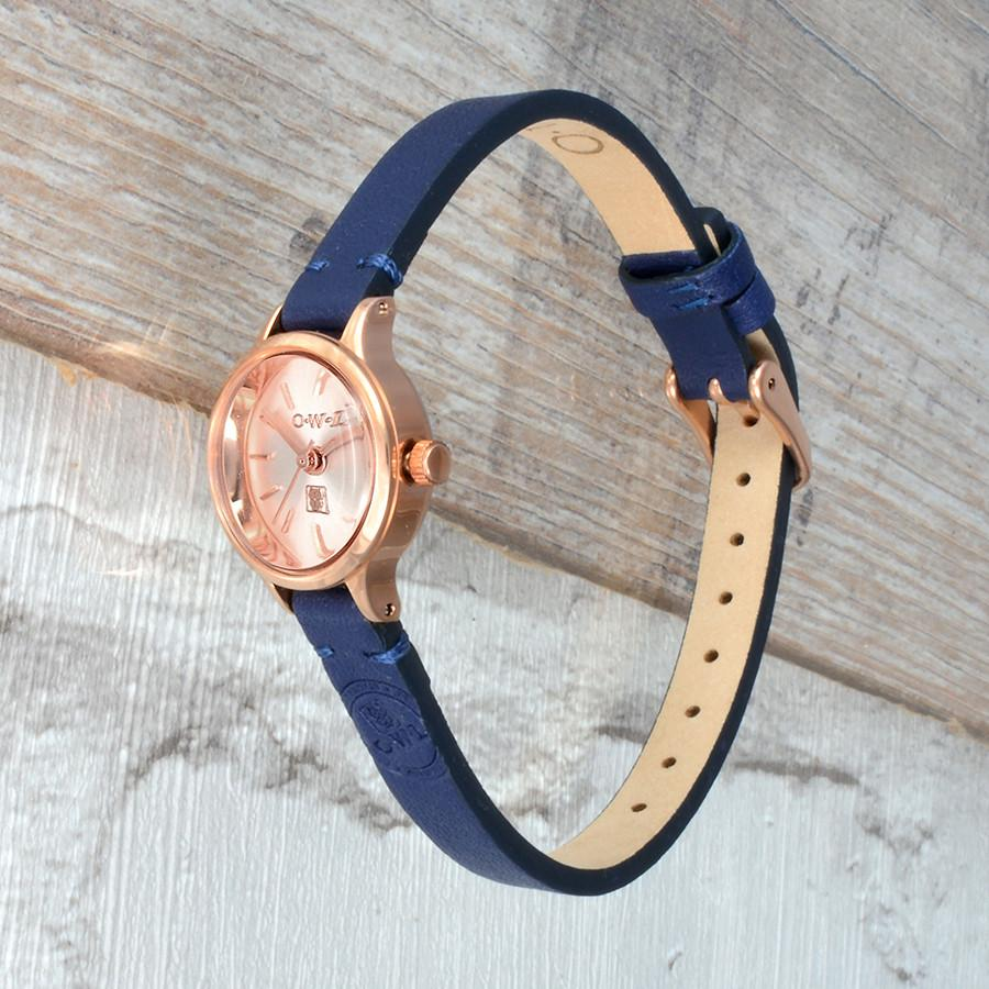 mini petite Conwy ladies vintage leather strap watch