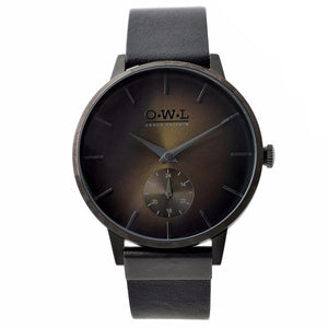 FILTON GENTLEMAN'S BLACK CASE AND STRAP WATCH WITH BROWN DIAL - OWL watches