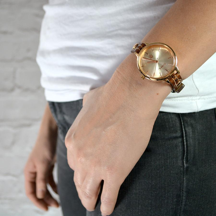 Clean oped watch dial in Rose gold, inspired by British Design
