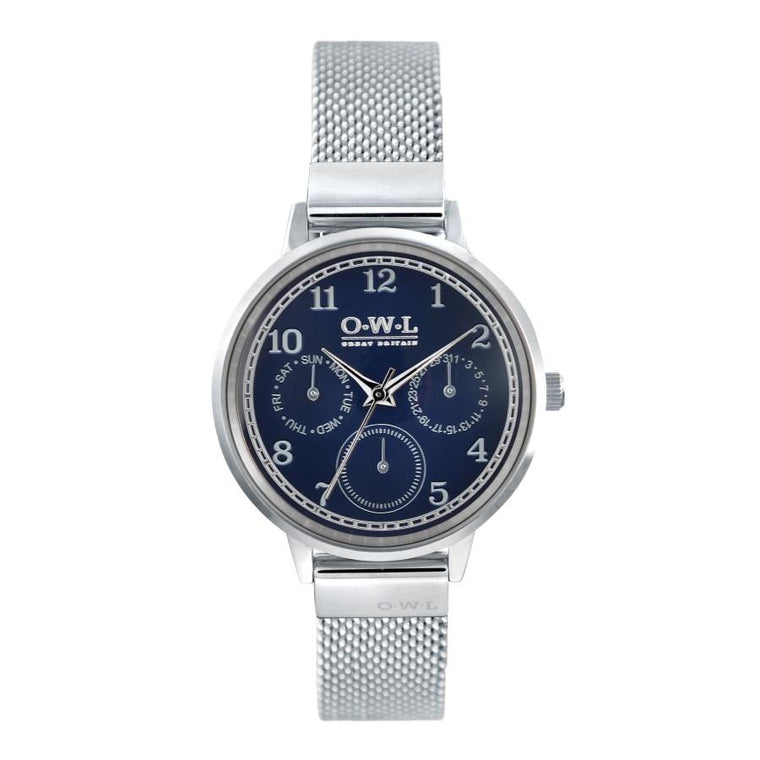 HELMSLEY STEEL CASE WITH BLUE DIAL & STEEL MESH STRAP
