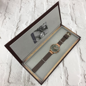 KINGSBRIDGE STEEL CASE, GREY STONE DIAL & STONE LEATHER STRAP WATCH - OWL watches