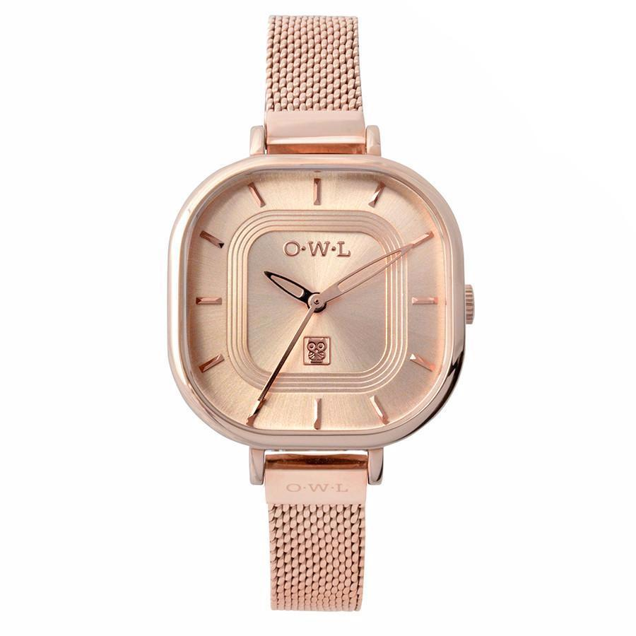 LINCOLN ROSE GOLD MESH WATCH