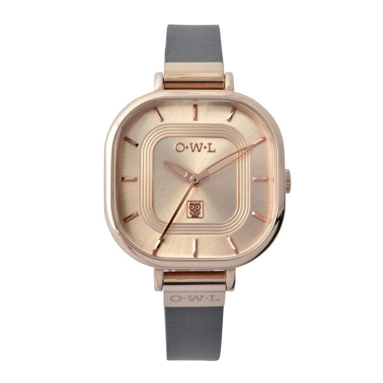 LINCOLN GREY AND ROSE GOLD LADIES WATCH