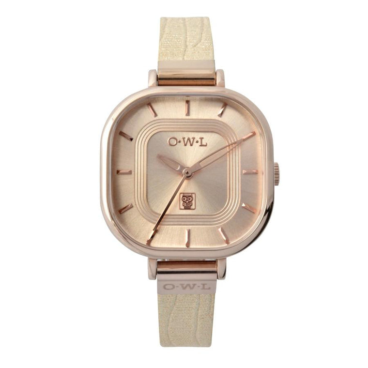 LINCOLN NUDE AND ROSE GOLD VINTAGE INSPIRED WATCH