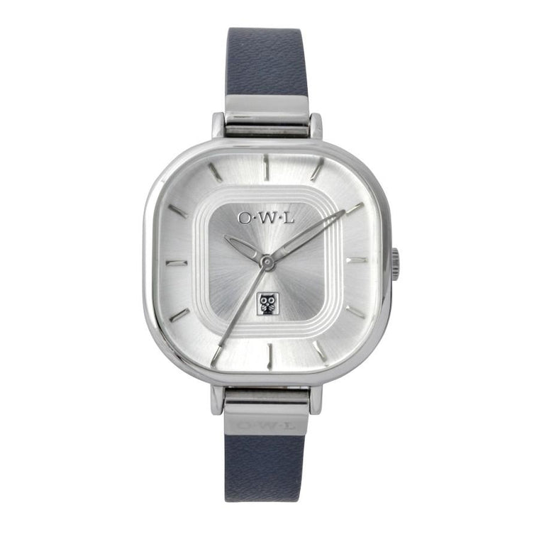 LINCOLN NAVY AND SILVER VINTAGE INSPIRED WATCH