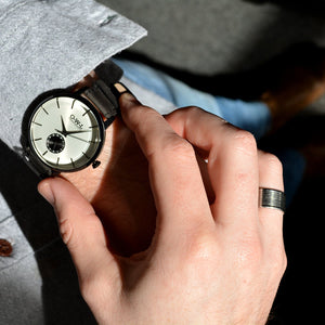 FILTON GENTLEMAN'S BLACK LEATHER STRAP WATCH - OWL watches