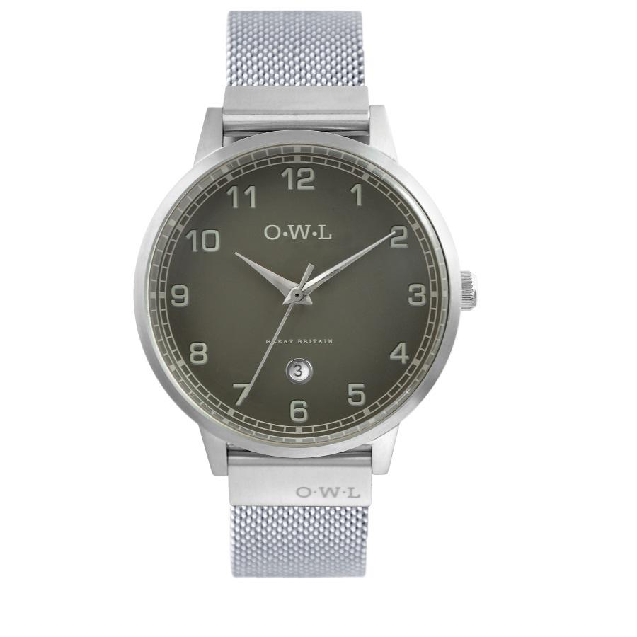 BRANCASTER STEEL & STONE GREY DIAL & STEEL MESH STRAP WATCH - OWL watches
