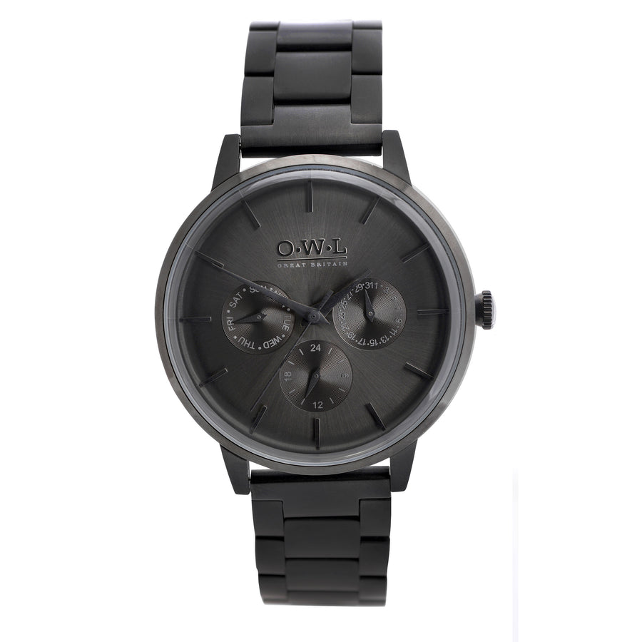 Pembrey black bracelet - OWL watches