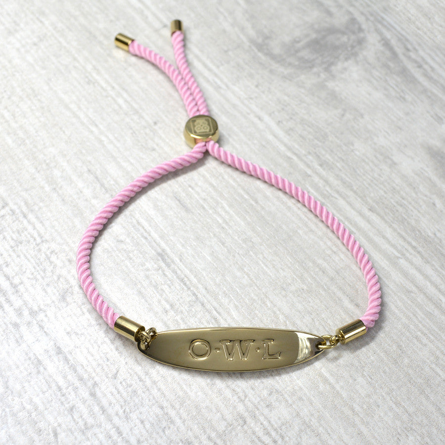 GLASTONBURY FRIENDSHIP BRACELETS GOLD AND PINK
