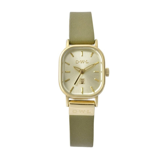STRATFORD PETITE VINTAGE INSPIRED LEATHER WATCH