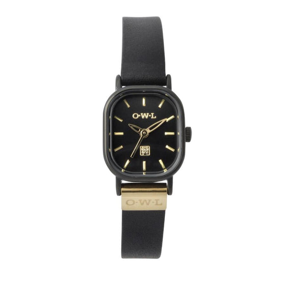 STRATFORD BLACK AND GOLD VINTAGE INSPIRED WATCH
