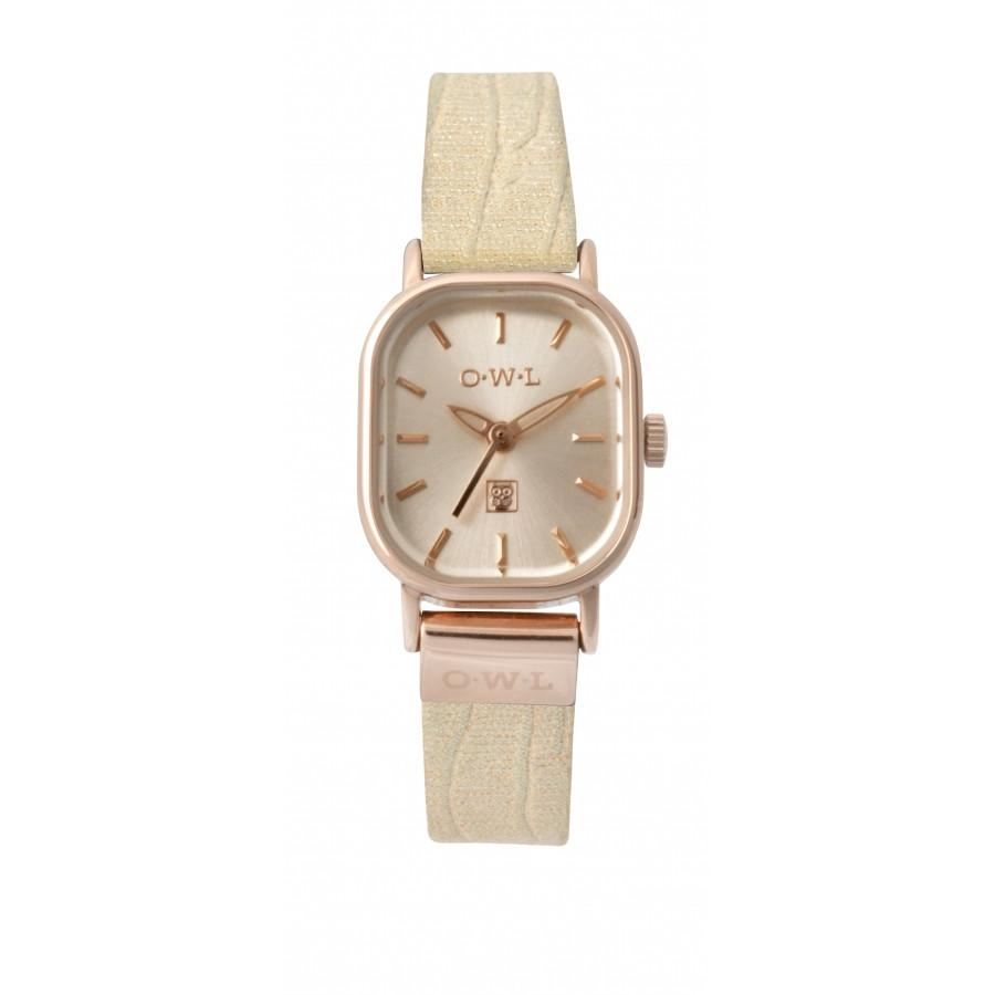 STRATFORD PETITE METALLIC NUDE AND ROSE GOLD WATCH