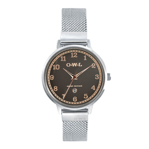SUTTON STEEL CASE WITH WARM GREY DIAL & STEEL MESH STRAP