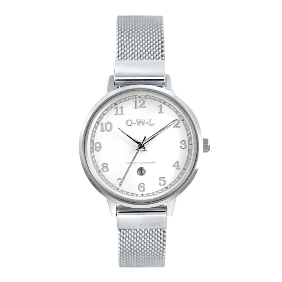 SUTTON STEEL CASE WITH SHELL WHITE DIAL & MESH STRAP