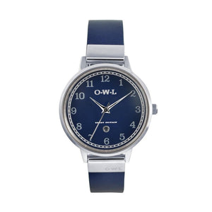 SUTTON STEEL CASE WITH BLUE DIAL & BLUE LEATHER STRAP