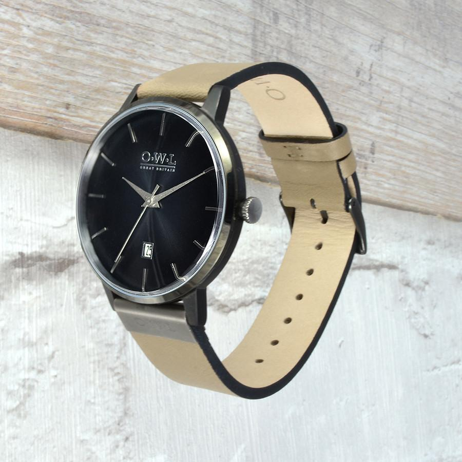 WALLOP GENTLEMAN'S STONE LEATHER STRAP WATCH