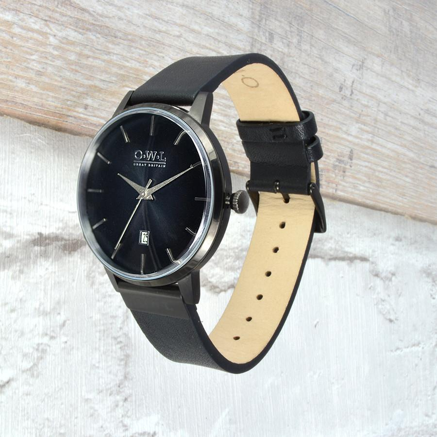 WALLOP GENTLEMAN'S VINTAGE INSPIRED BLACK WATCH