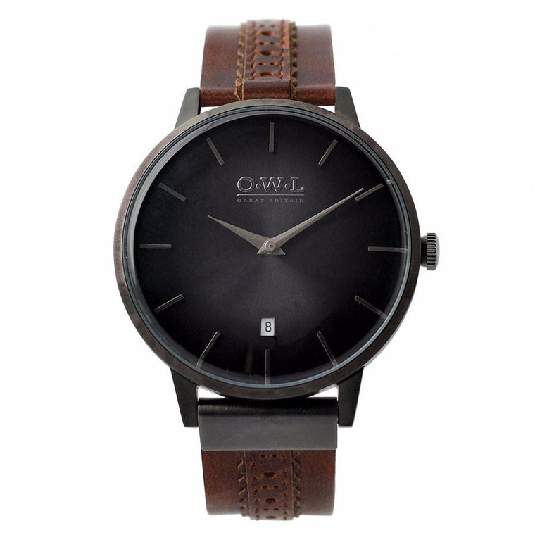 Clean style mens designer watch