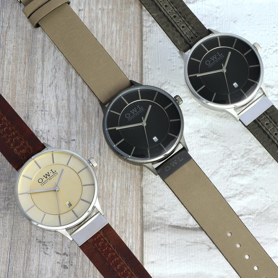 WARWICK GENTLEMAN'S VINTAGE INSPIRED LEATHER STRAP WATCH