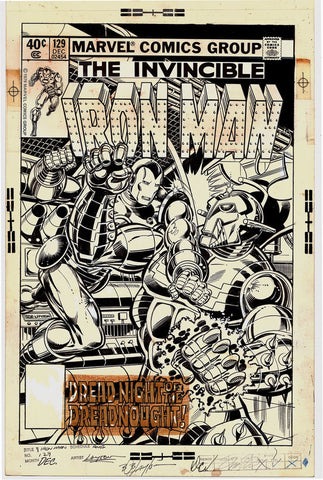 Iron Man #129 Original Cover Art