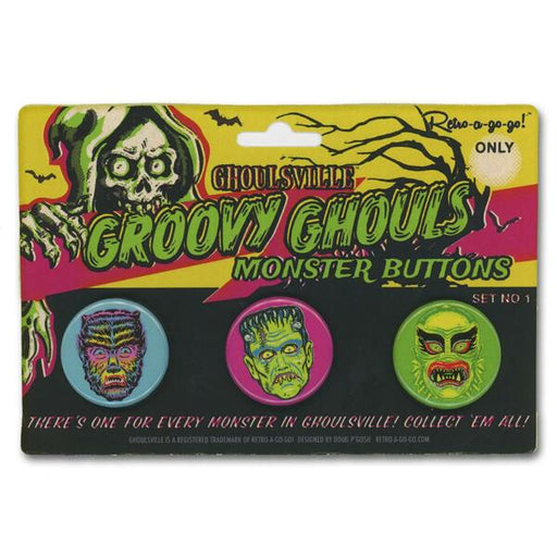 Groovy Ghouls Button Set #1