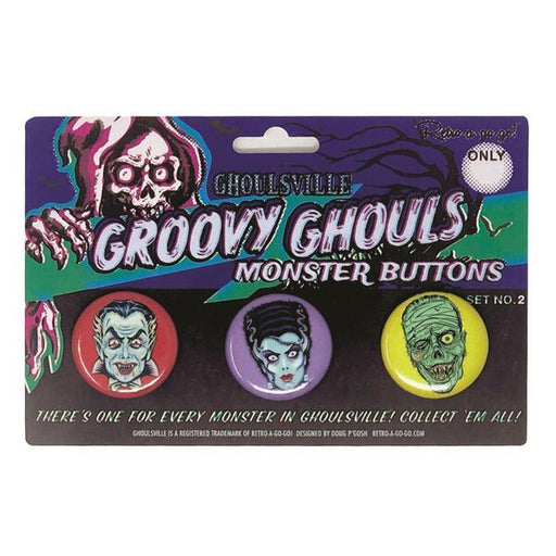 Groovy Ghouls Button Set #2
