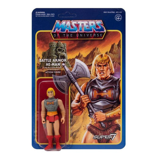 MASTERS OF THE UNIVERSE REACTION FIGURE - BATTLE ARMOR HE-MAN  086547345774