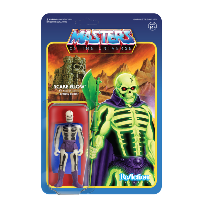 MASTERS OF THE UNIVERSE REACTION FIGURE - SCARE GLOW  811169030537