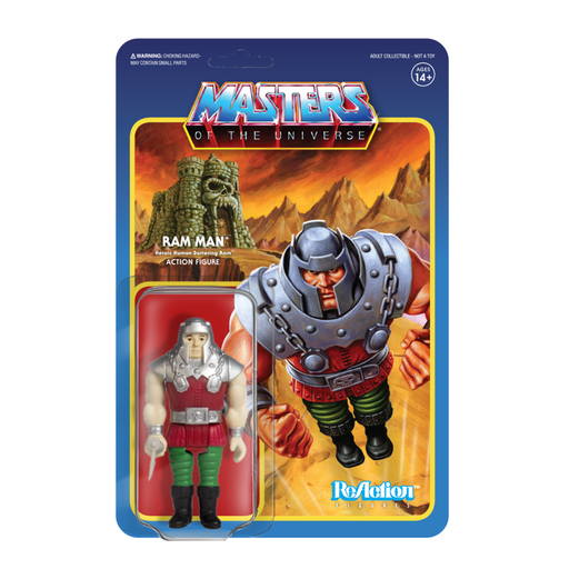 MASTERS OF THE UNIVERSE REACTION FIGURE - RAM MAN   811169030551