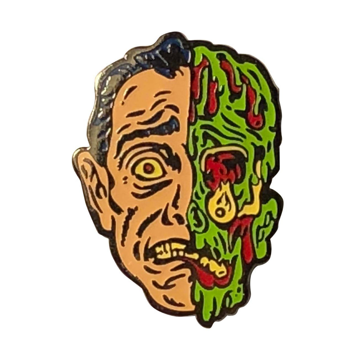Melted Man Enamel Pin